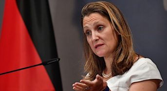 No Politics On Whelan Says Chrystia Freeland