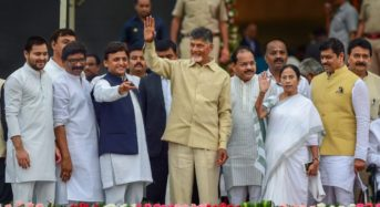 Opposition parties in India agree to develop a common minimum program to lend credence to their anti-Modi stance
