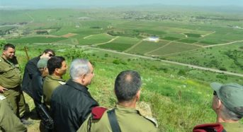 US recognizes Israel's Sovereignty over Golan Heights