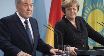 Angela Merkel And Nursultan Nazarbayev Discuss On Telephone