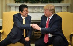 Shinzo Abe at odds with the US Pres as Trump downplays recent South Korean missile tests
