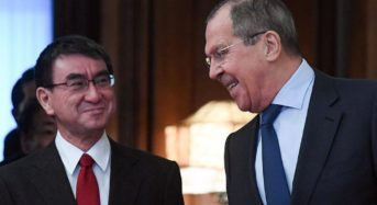 Sergey Lavrov And Taro Kono Meet To Discuss Territorial Issues