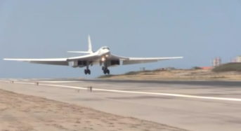Russian air force jet lands in Venezuela